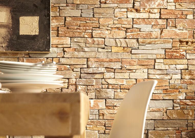 Mur intérieur en pierre naturelle Lithos pierre orient