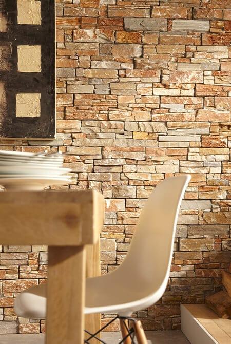 Pan de mur intérieur en pierre naturelle Lithos pierre orient
