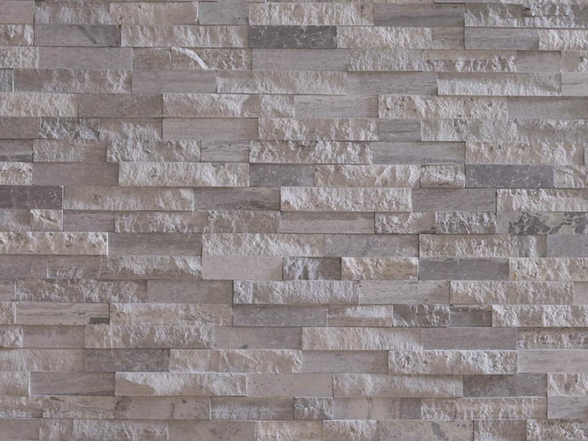 Mur en pierre naturelle Lithos cottage grise