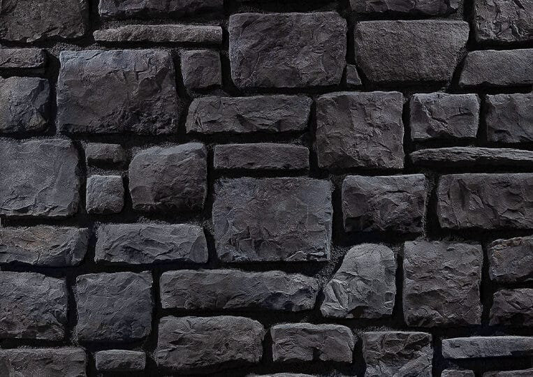 Mur en pierre reconstituée country stone arinna anthracite