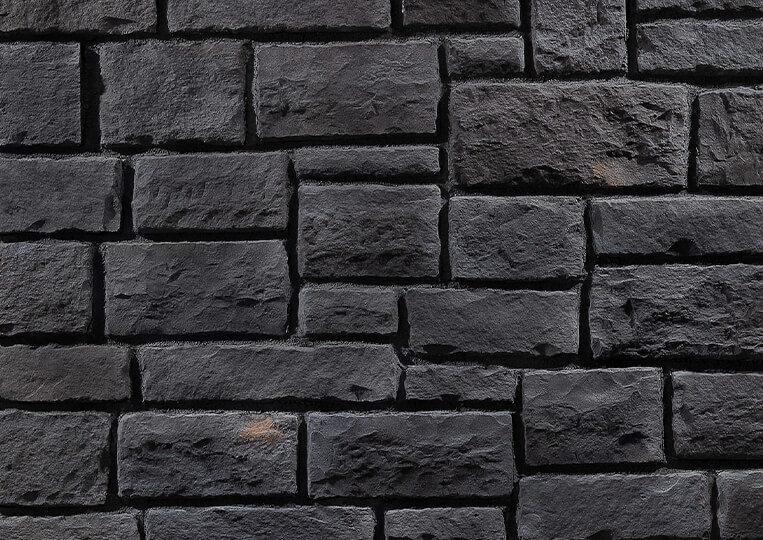 Mur en pierre reconstituée country stone kaunos anthracite