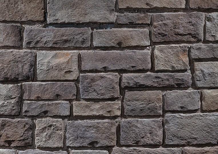 Mur en pierre reconstituée country stone kaunos kahve