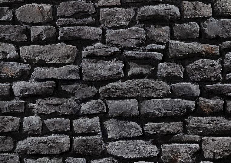 Mur en pierre reconstituée country stone mindos antrasite
