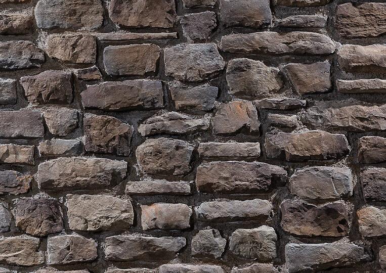 Mur en pierre reconstituée country stone mindos kahve