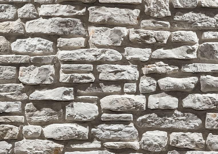 Mur en pierre reconstituée country stone mindos sedef