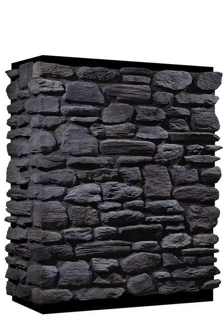 Mur en pierre reconstituée country stone pergamon anthracite
