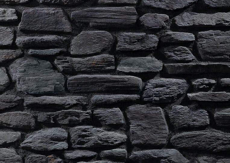 Pierre reconstituée country stone pergamon anthracite