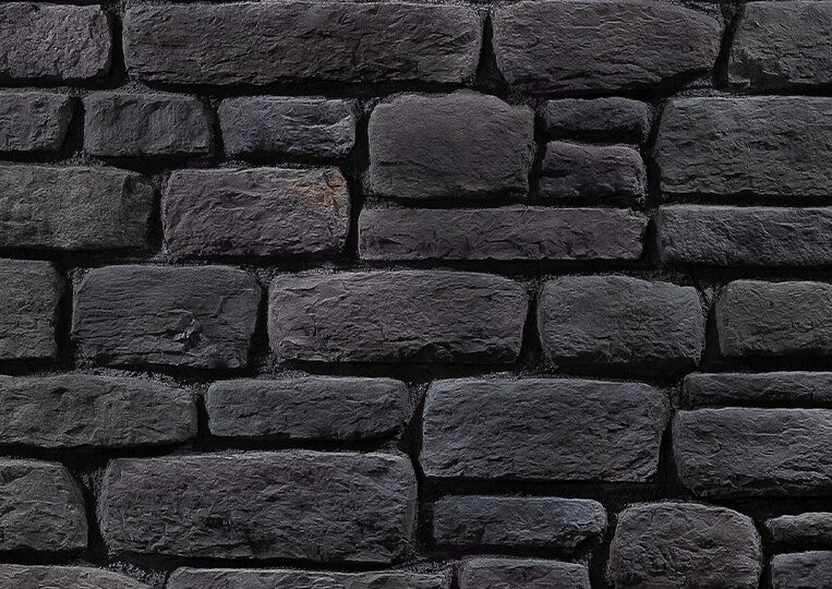 Mur en pierre reconstituée country stone sillyon anthracite