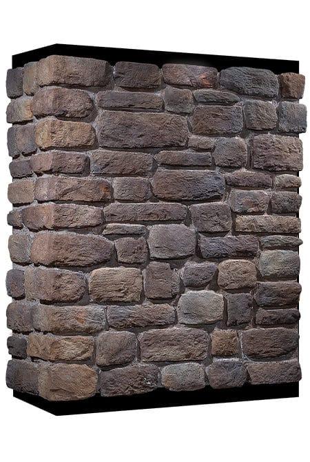 Mur en pierre reconstituée country stone sillyon kahve