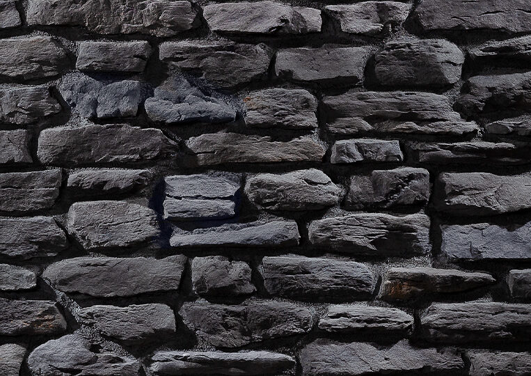 Mur en pierre reconstituée country stone termera anthracite