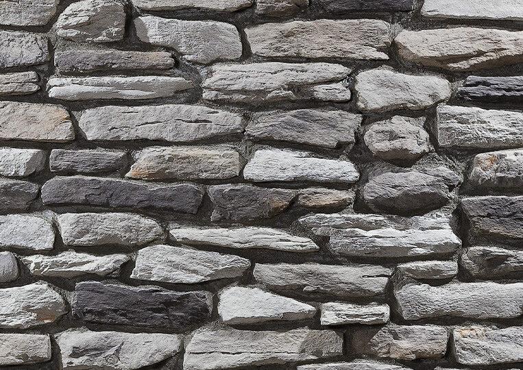 Mur en pierre reconstituée country stone termera duman