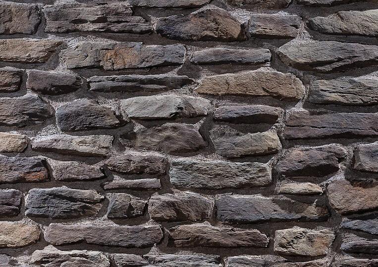 Mur en pierre reconstituée country stone termera kahve