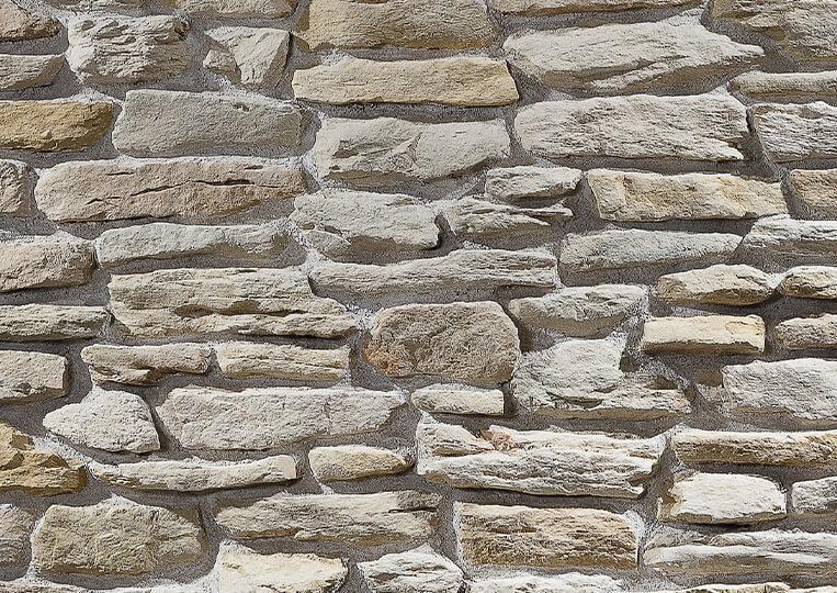 Mur en pierre reconstituée country stone termera sahra