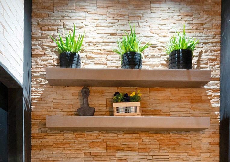 Pans de mur en pierre de parement reconstituée andorra
