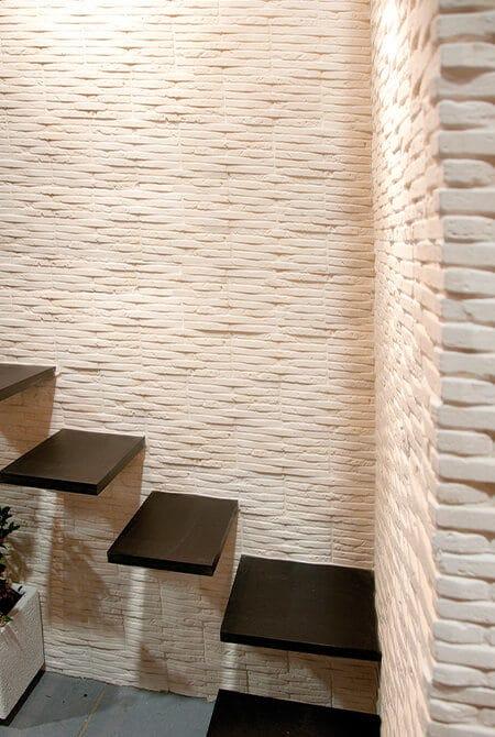 Mur en pierre de parement atlas de couleur clair