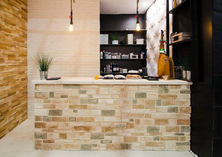 Bar réalisé en colorado pierre reconstituée