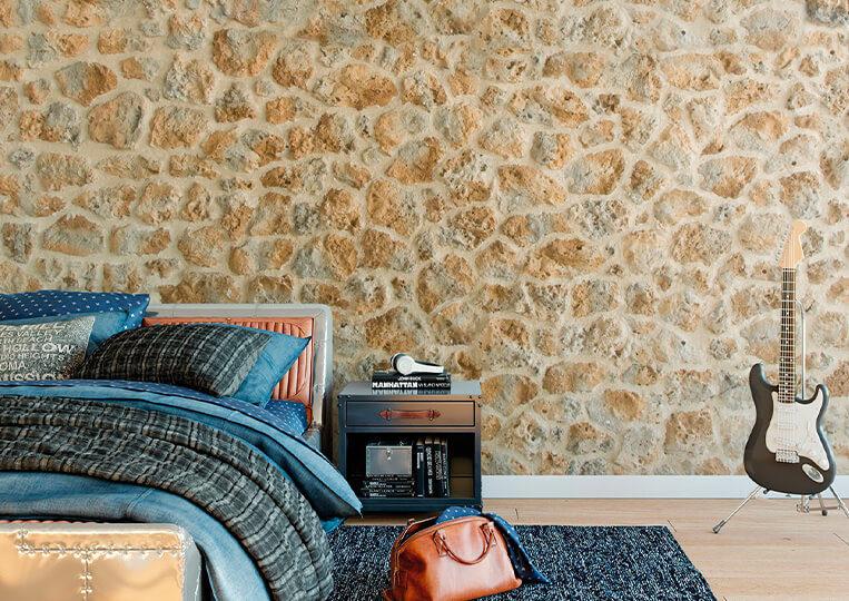 Mur en pierre de parement timanfaya