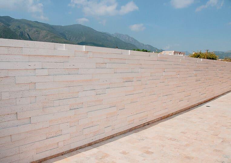 Pans de mur externe en pierre de parement Tivoli